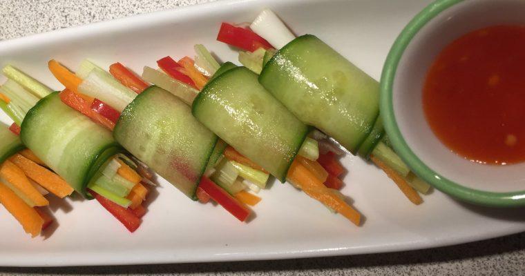Veggie sushi sticks