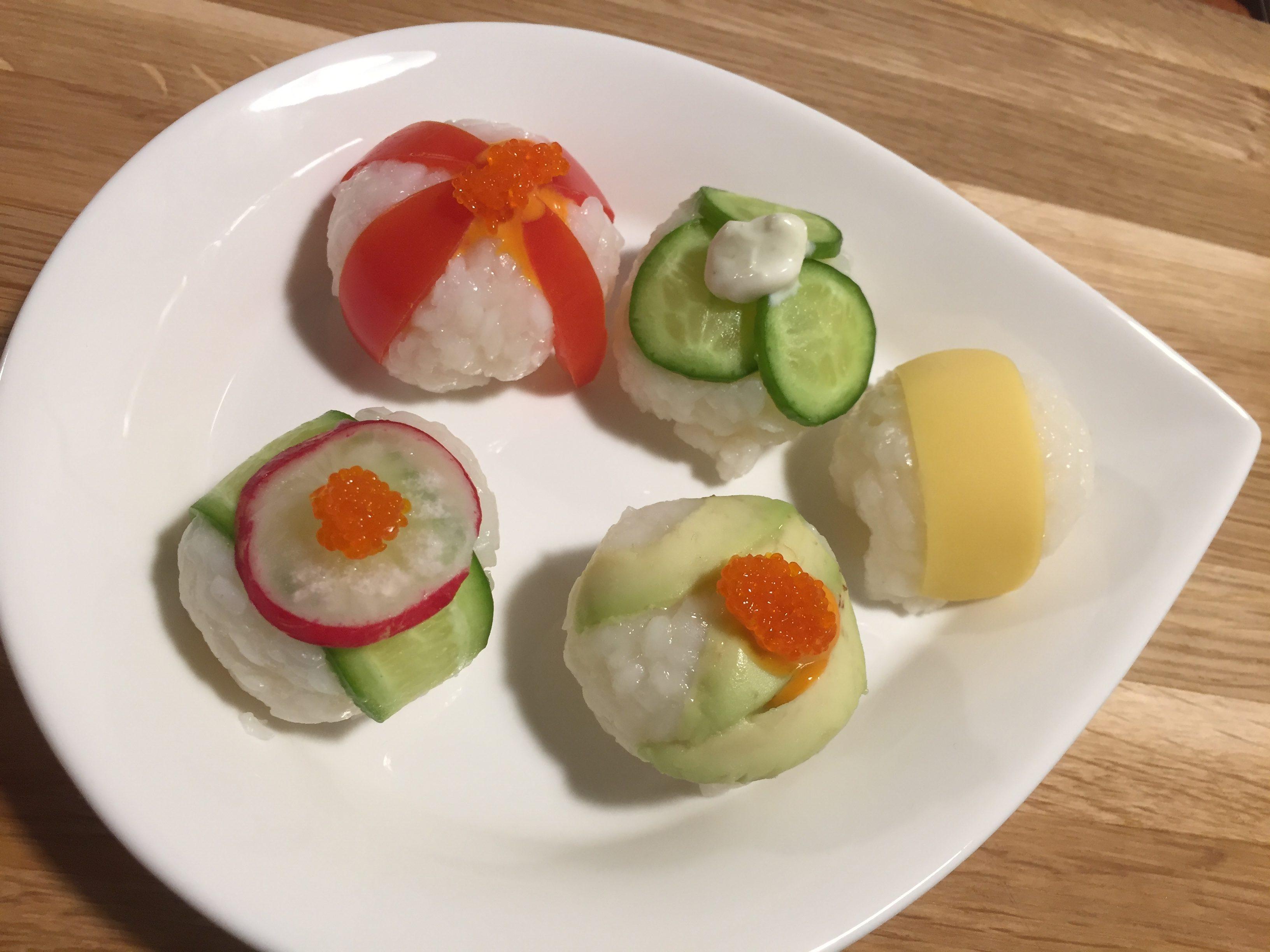 Temari sushi – sushi balls
