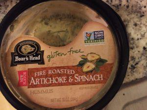 Hummus med artiskok og spinat