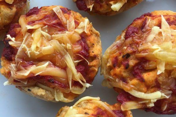 Pizza muffins, 6 stk.